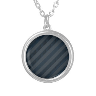 Azules marinos y gris profundos con clase - rayas colgante redondo