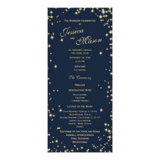 Azules marinos y oro de medianoche del centelleo lona personalizada