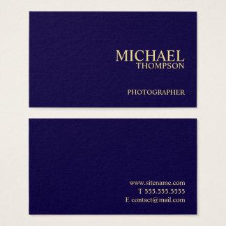 Azules marinos y oro profesionales tarjeta de negocios