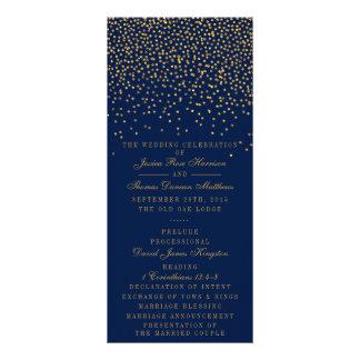 Azules marinos y programa atractivo del boda del folleto publicitario 10 x 22,8 cm
