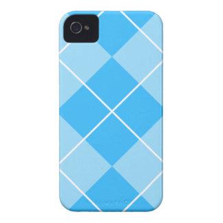 Azules pálidos Argyle iPhone 4 Protectores