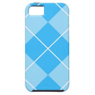 Azules pálidos Argyle iPhone 5 Case-Mate Cárcasas