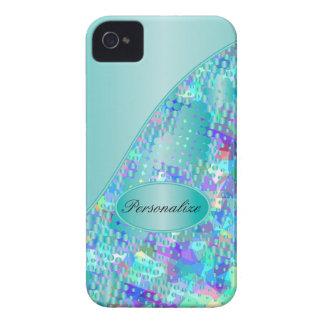 Azules psicodélicos de la diversión con una iPhone 4 protectores