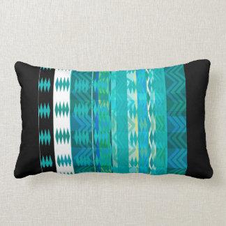 azules turquesas abstractas geométricas de la cojín lumbar