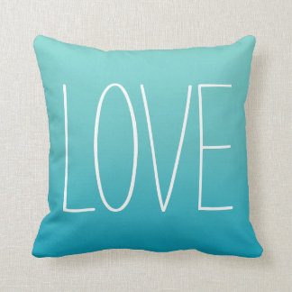 Azules turquesas de la almohada el   del amor