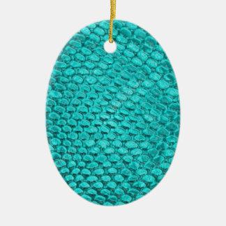 Azules turquesas del reptil adorno de cerámica