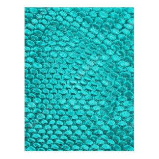 Azules turquesas del reptil postal