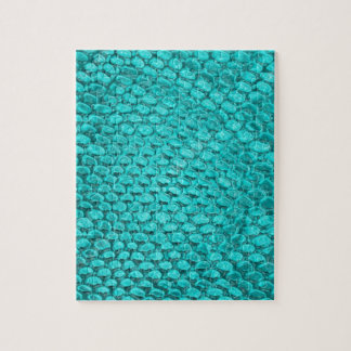 Azules turquesas del reptil puzzle