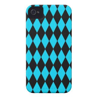 Azules turquesas del trullo y modelo del diamante iPhone 4 protectores