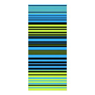 Azulverde contemporáneo y rayas negras lona personalizada