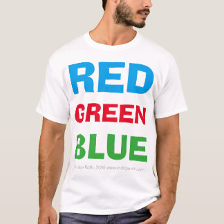 Azulverde rojo (camiseta blanca) camiseta