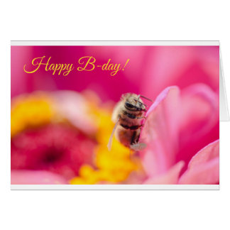¡B-día feliz! Tarjeta De Felicitación