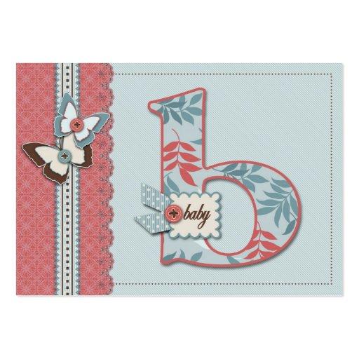 B está para el recordatorio Notecard del bebé Plantillas De Tarjeta De Negocio