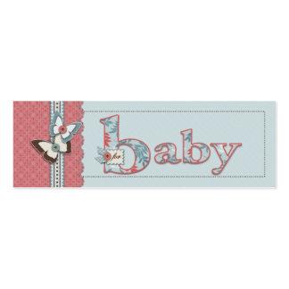 B está para la etiqueta flaca del regalo del bebé tarjeta personal