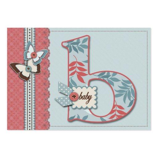 B está para la tarjeta del recordatorio del bebé plantillas de tarjeta de negocio