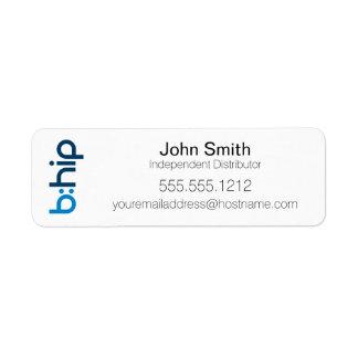 b: Etiqueta del distribuidor del HIP pequeña Etiquetas De Remite