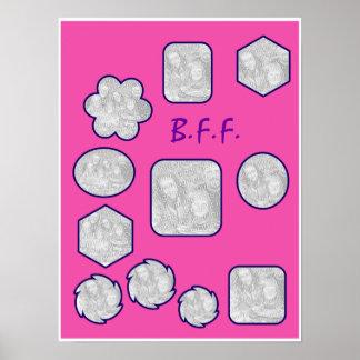 B.F.F. Collage de la imagen Póster