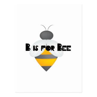 B para la abeja postal