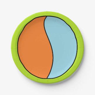 B. Placa de papel de la bola Plato De Papel