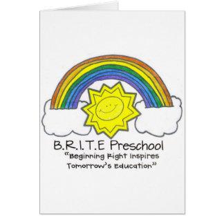 B.R.I.T.E. Preescolar Tarjeta De Felicitación