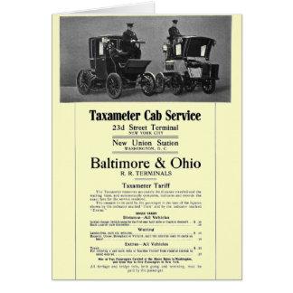B+Servicio 1908 del taxi de Taxameter del ferrocar Tarjeta