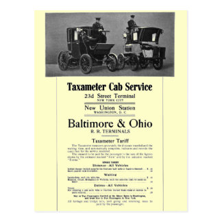 B+Servicio 1908 del taxi de Taxameter del Postal