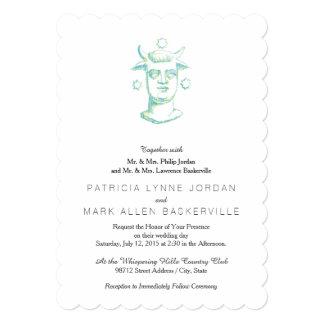Baal (estilo de la prensa de copiar, dos colores) invitaciones personales