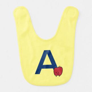 Babero A está para el aprendizaje de la letra del ABC del