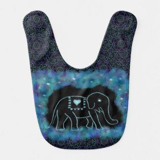 Babero alegre del bebé del elefante