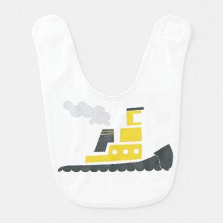 Babero amarillo del bebé del remolcador de Lil