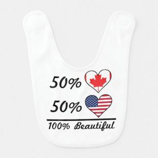 Babero Americano del canadiense el 50% del 50% el 100%