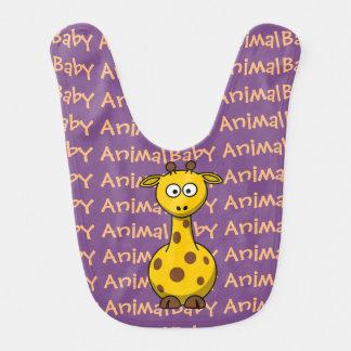 Babero Animal del bebé de la jirafa