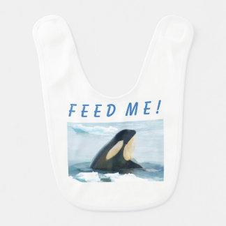 Babero Azul de Spyhop de la ballena de la orca