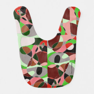 Babero ¡Babero artsy - arte abstracto con el factor del