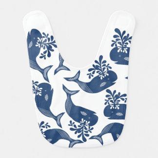 Babero Ballenas azules