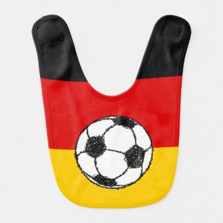 Babero Bandera alemana con fútbol