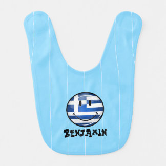 Babero Bandera griega sonriente