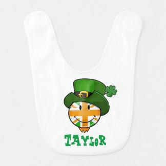 Babero Bandera sonriente de Union Jack del irlandés en un