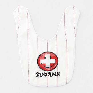 Babero Bandera suiza sonriente