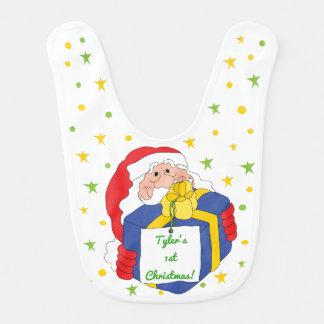 Babero Bebé del navidad grande/Papá Noel