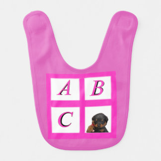 Babero Bloques del alfabeto de Rottie