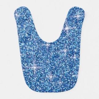 Babero Brillo iridiscente azul