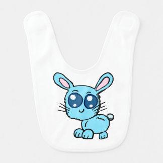 Babero Camisa azul del bebé del conejito de Chibi