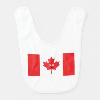 Babero Cara canadiense de la hoja de arce
