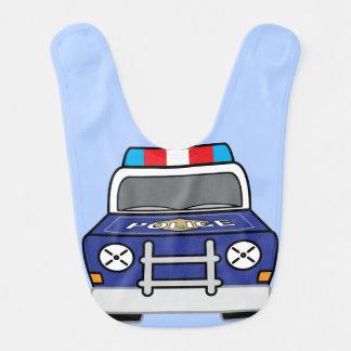 Babero Coche patrulla azul intrépido de la policía