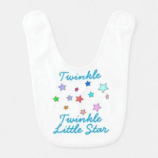 Babero colorido del bebé de las estrellas -
