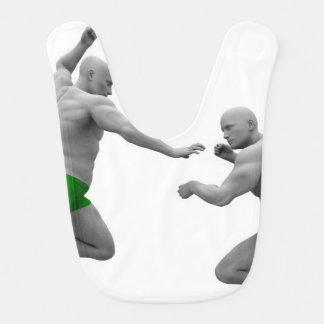 Babero Concepto de los artes marciales para luchar y la