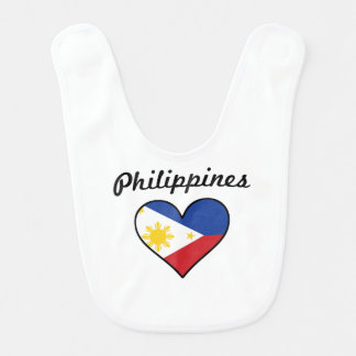 Babero Corazón de la bandera de Filipinas