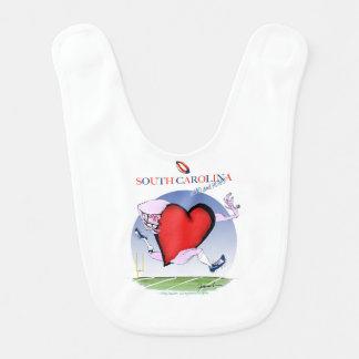 Babero corazón principal de Carolina del Sur, fernandes