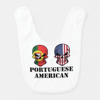 Babero Cráneos portugueses de la bandera americana